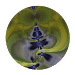 Gray Goblin in Green, Abstract Fun Spooky Imp Poker Chips