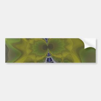 Gray Goblin in Green, Fun Spooky Imp Car Bumper Sticker
