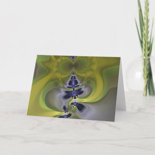 Gray Goblin in Green, Fun Spooky Imp Card