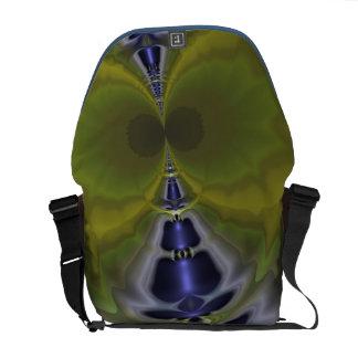 Gray Goblin in Green, Fun Spooky Imp Courier Bag