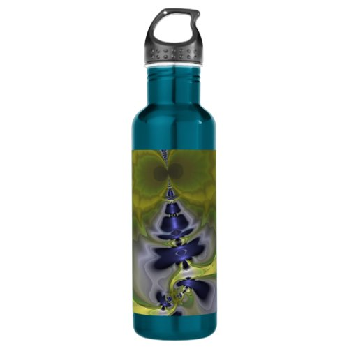 Gray Goblin in Green, Fun Spooky Imp Stainless Steel Water Bottle