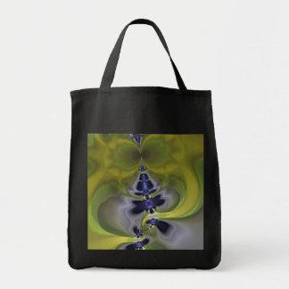 Gray Goblin in Green, Fun Spooky Imp Tote Bag