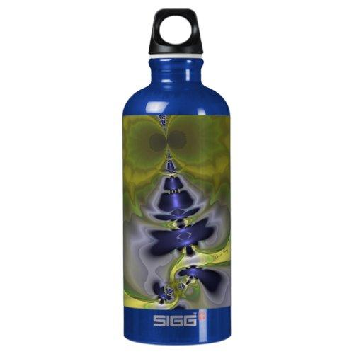 Gray Goblin in Green, Fun Spooky Imp Water Bottle