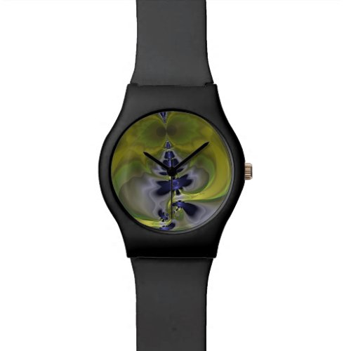Gray Goblin in Green, Fun Spooky Imp Wrist Watch