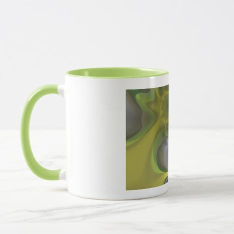 Gray Goblin in Green, Spooky Fun Creature Mug