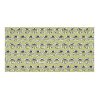 Gray Gold Clubs pattern Card