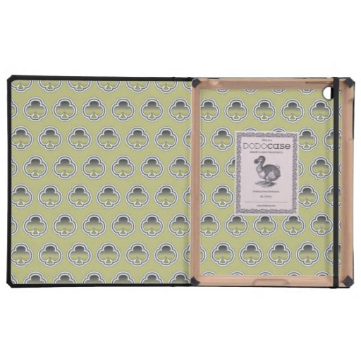 Gray Gold Clubs pattern iPad Folio Cases