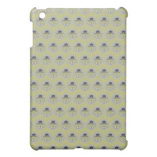 Gray Gold Clubs pattern iPad Mini Cases