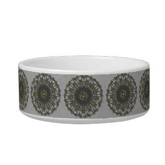 Gray Gold Mandala Bowl