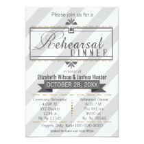 gray gold vintage rehearsal dinner invites
