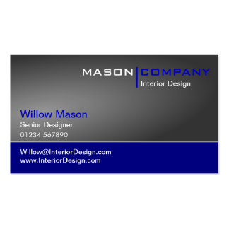 Gray Gradient Dark Blue Corporate Business Card