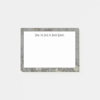Gray Granite Marble Masculine Personalized Post-it Notes