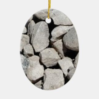 gray gravel ceramic ornament