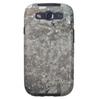 Gray Gravel Grunge Background Galaxy S3 Cases