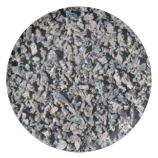gray gravel texture melamine plate