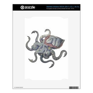Gray/Gray Mythical Cartoon Kraken Monster NOOK Skin