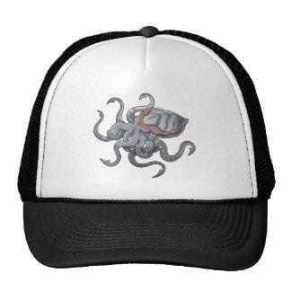 Gray/Gray Mythical Cartoon Kraken Monster Trucker Hat