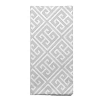 Gray Greek Key Pattern Napkin