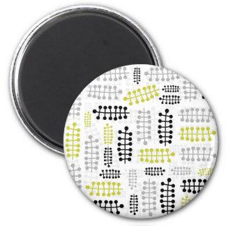 gray green dot leaves on white magnet