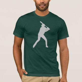 Gray green simple baseball player guys tee