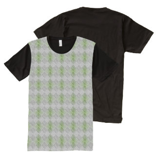Gray & Green Weave All-Over-Print T-Shirt