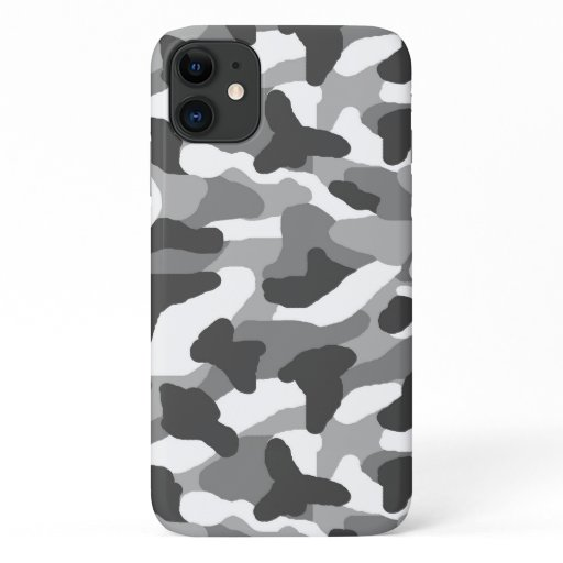 Gray Grey Camo Camouflage Hunting Rustic iPhone 11 Case