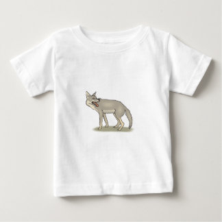 Gray/Grey Cartoon Coyote with Its Mouth Open Baby T-Shirt