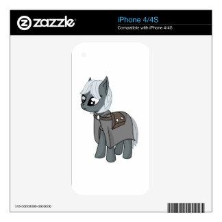 Gray/Grey Cartoon Fantasy Pony Filly Wearing Cloak iPhone 4S Skin
