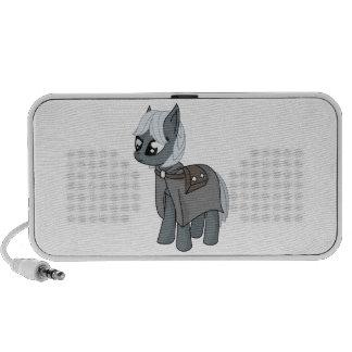 Gray/Grey Cartoon Fantasy Pony Filly Wearing Cloak Travel Speaker