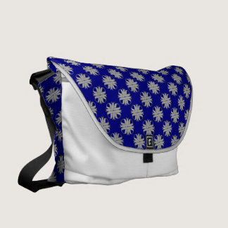 Gray / Grey Clover Ribbon by Kenneth Yoncich Messenger Bag