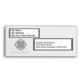 Gray / Grey Clover Ribbon Envelope
