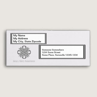 Gray / Grey Clover Ribbon Envelope