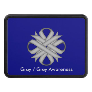 Gray / Grey Clover Ribbon Hitch Cover