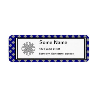 Gray / Grey Clover Ribbon Label