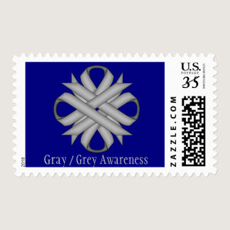 Gray / Grey Clover Ribbon Postage