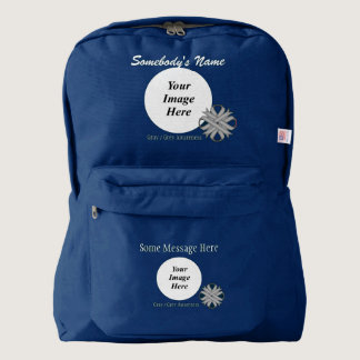 Gray / Grey Clover Ribbon Template Backpack