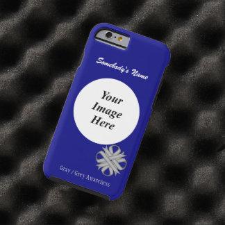 Gray / Grey Clover Ribbon Template Tough iPhone 6 Case