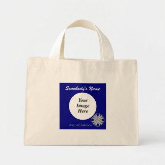 Gray / Grey Clover Ribbon Template Mini Tote Bag