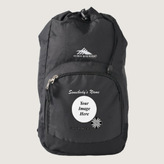 Gray / Grey Clover Ribbon Tmpl. by Kenneth Yoncich Backpack
