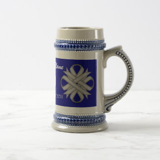 Gray/Grey Clover Ribbon Tmpl by Kenneth Yoncich Beer Stein