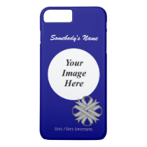 Gray/Grey Clover Ribbon Tmpl by Kenneth Yoncich iPhone 8 Plus/7 Plus Case
