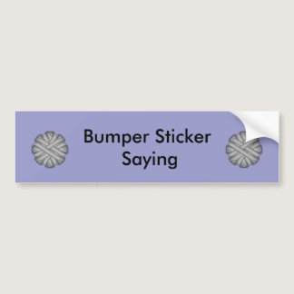 Gray / Grey Flower Ribbon Bumper Sticker