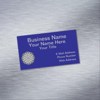 Gray / Grey Flower Ribbon Business Card Magnet