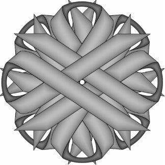 Gray / Grey Flower Ribbon Cutout