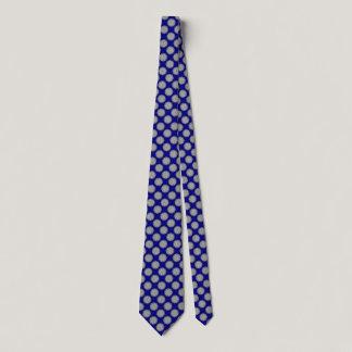 Gray / Grey Flower Ribbon Neck Tie