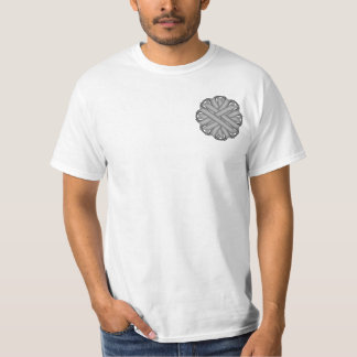 Gray / Grey Flower Ribbon T-Shirt