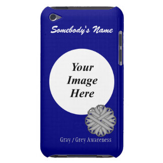 Gray / Grey Flower Ribbon Template iPod Touch Case-Mate Case