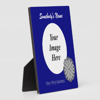 Gray / Grey Flower Ribbon Template Plaque