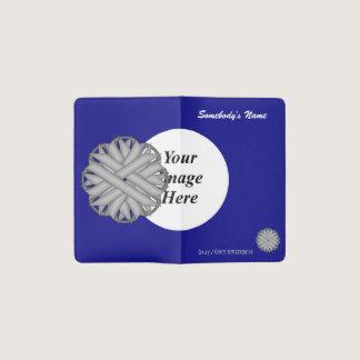 Gray / Grey Flower Ribbon Template Pocket Moleskine Notebook