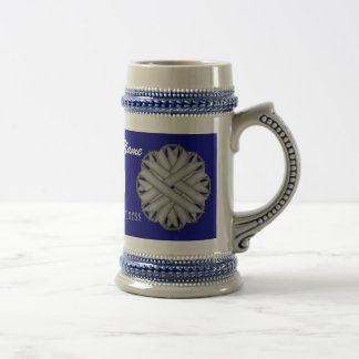 Gray / Grey Flower Ribbon Tmpl by Kenneth Yoncich Beer Stein